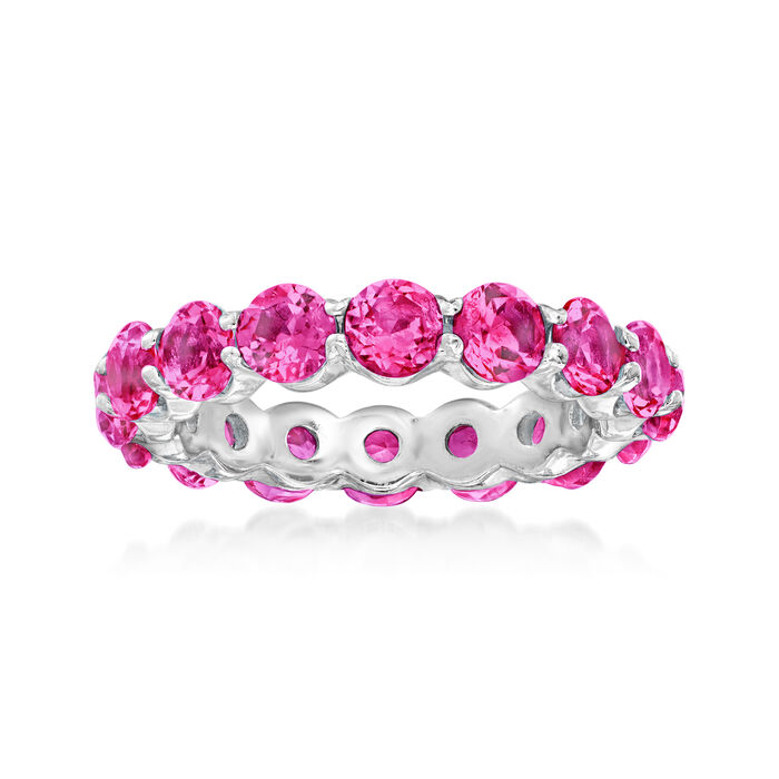 4.50 ct. t.w. Pink Topaz Eternity Band in Sterling Silver