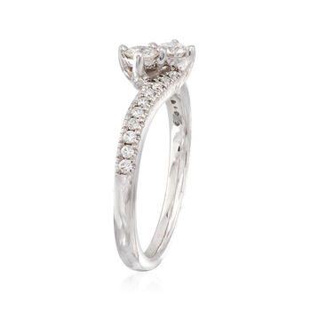 C. 2000 Vintage .61 ct. t.w. Diamond Two-Stone Ring in 14kt White Gold. Size 7, , default