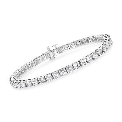 7.00 ct. t.w. Diamond Tennis Bracelet in 14kt White Gold