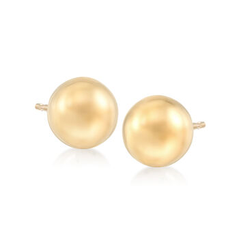 Italian 8mm 18kt Yellow Gold Ball Stud Earrings , , default