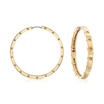 """Roberto Coin """"Symphony Pois Moi"""" 18kt Yellow Gold Large Hoop Earrings, , default"""
