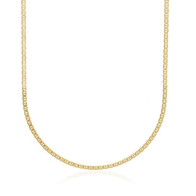 Men's 3mm 14kt Yellow Gold Marine Chain Necklace, , default