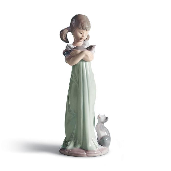 "Lladro ""Don't Forget Me"" Porcelain Figurine , , default"