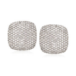 9.25 ct. t.w. Diamond Square-Shape Stud Earrings in 18kt White Gold, , default