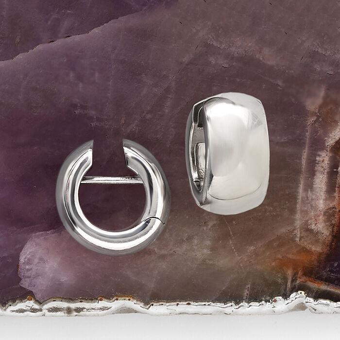Italian Sterling Silver Huggie Hoop Earrings