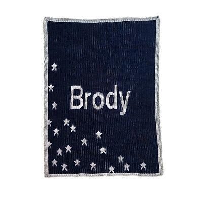 Child's Butterscotch Blankees Personalized Metallic Stars Blanket, , default