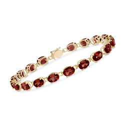18.00 ct. t.w. Oval Garnet Bracelet in 14kt Yellow Gold, , default