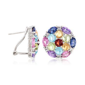 6.00 ct. t.w. Multi-Stone Earrings in Sterling Silver, , default