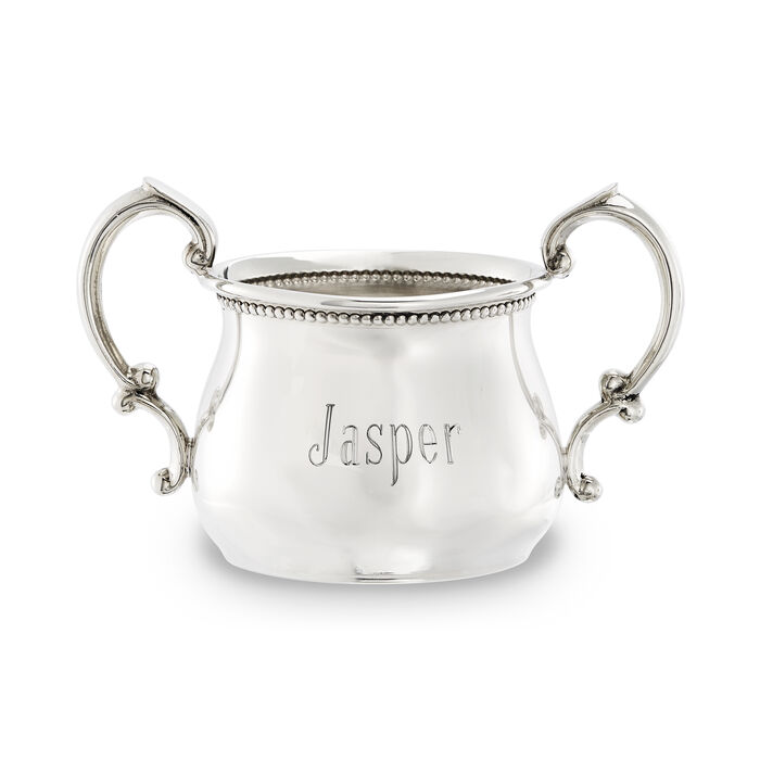Empire Pewter Beaded Double-Handle Beaded Baby Cup