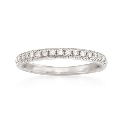 .31 ct. t.w. Diamond Wedding Ring in 14kt White Gold