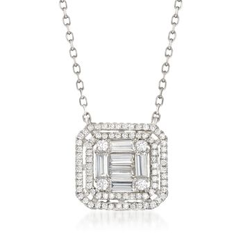 "1.33 ct. t.w. CZ Necklace in Sterling Silver. 16"", , default"