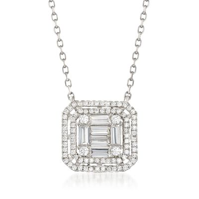 1.33 ct. t.w. CZ Necklace in Sterling Silver, , default
