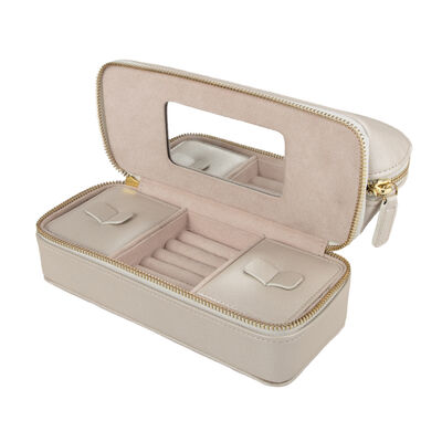 "Brouk & Co.'s ""Abby"" Pearl White Faux Leather Travel Organizer, , default"