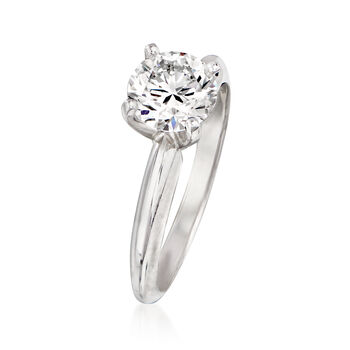1.22 Carat Certified Diamond Engagement Ring in 14kt White Gold. Size 6