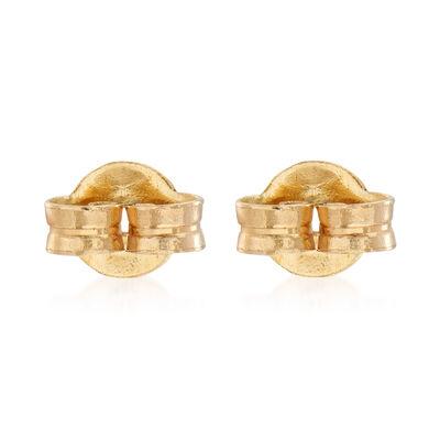 Italian 14kt Yellow Gold Medium 5mm Earring Backings