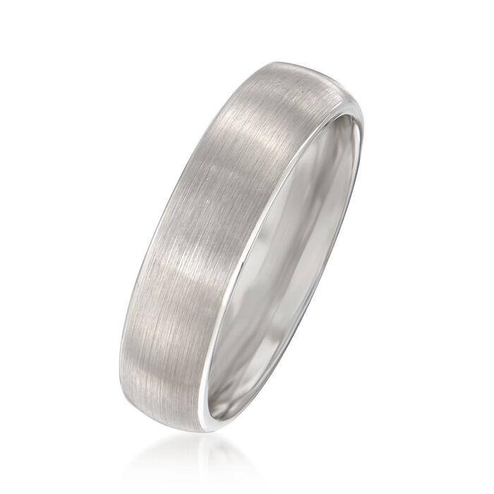 Men's 6mm Tungsten Carbide Wedding Ring