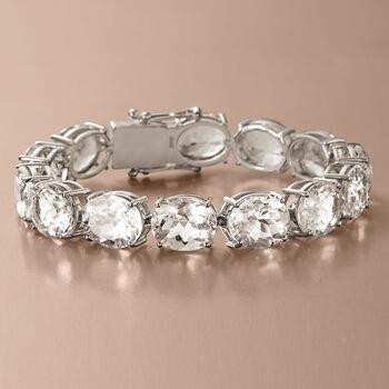 Rock Crystal Bracelet in Sterling Silver, , default