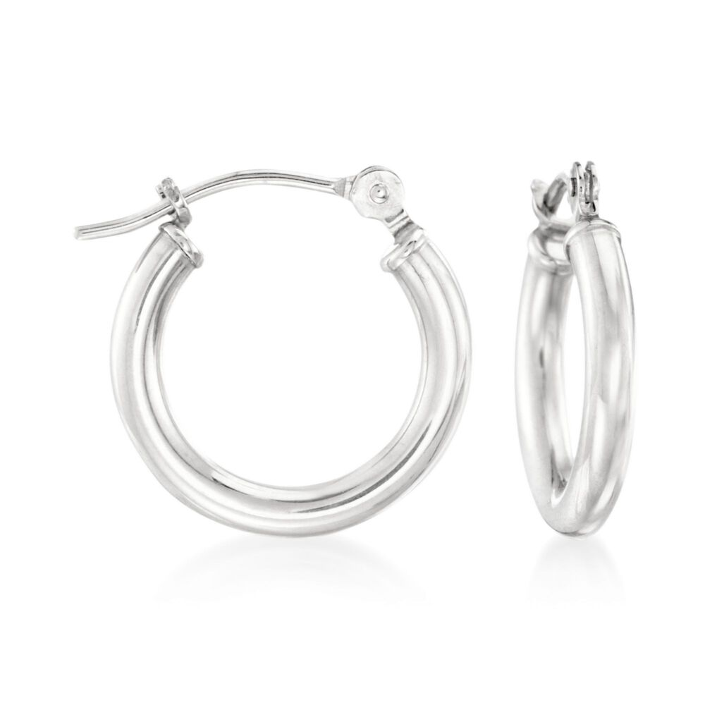 1 5mm 14kt White Gold Small Hoop Earrings 2 Default