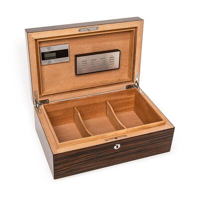 Brouk & Co. Matte Ebony Large Wooden Cigar Humidor