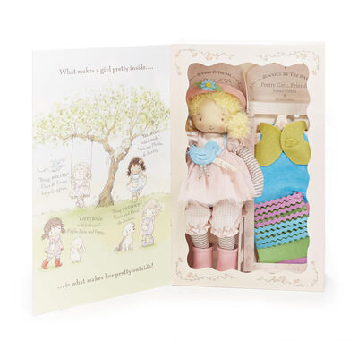 Bunnies by the Bay Elsie Girl Plush Doll Gift Set