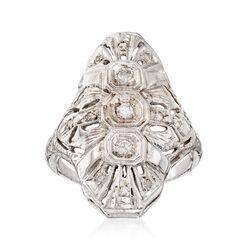 C. 1960 Vintage .47 ct. t.w. Diamond Dinner Ring in 14kt White Gold, , default