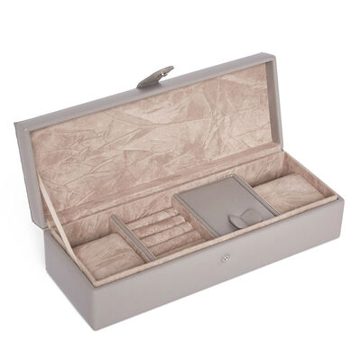 "Brouk & Co. ""Leo"" Grey Faux Leather Travel Jewelry Box , , default"