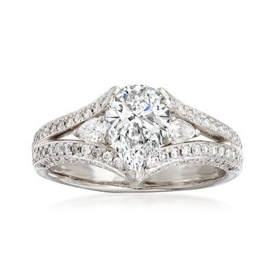 C. 1990 Vintage 1.87 ct. t.w. Diamond Ring in Platinum