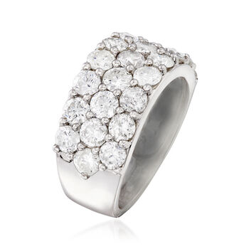 4.00 ct. t.w. Diamond Three-Row Ring in 14kt White Gold