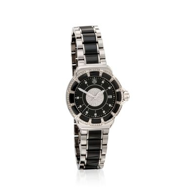 TAG Heuer Formula 1 Women's 36mm .64 ct. t.w. Diamond Watch in Stainless Steel and Black Ceramic, , default