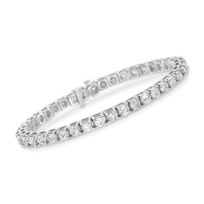 10.00 ct. t.w. Diamond Tennis Bracelet in 14kt White Gold, , default