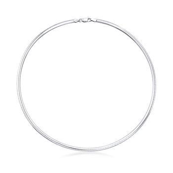 "Italian Sterling Silver Seashell Slide Pendant Necklace. 18"""