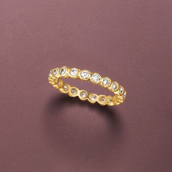 .60 ct. t.w. Bezel-Set CZ Eternity Band in 14kt Yellow Gold. Size 5, , default