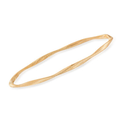 Italian 14kt Yellow Gold Twisted Bangle Bracelet