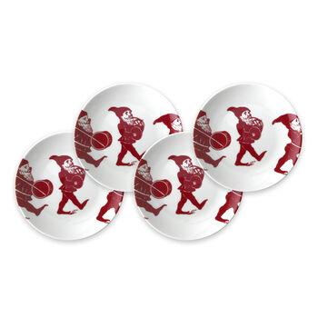 """Caskata """"Elves"""" Red and White Porcelain Dinnerware, , default"""