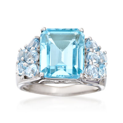 9.05 ct. t.w. Sky Blue Topaz Ring in Sterling Silver, , default