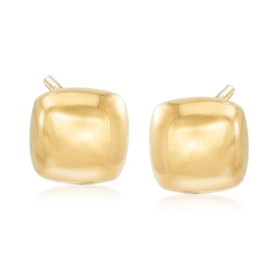 Italian 18kt Yellow Gold Square Earrings, , default