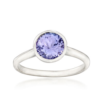 1.50 Carat Tanzanite Ring in Sterling Silver, , default