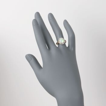 Opal and .21 ct. t.w. Diamond Ring in 14kt Yellow Gold, , default
