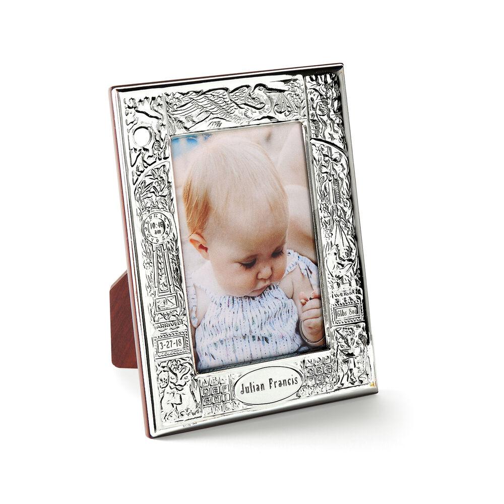 Cunill Italian Sterling Silver Personalized Birth Record Picture