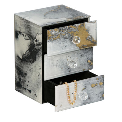 "Mele & Co. ""Maura"" Marbled Glass Jewelry Box"