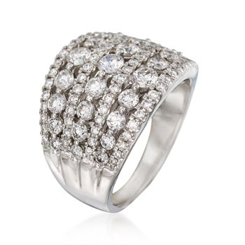 2.00 ct. t.w. Multi-Row Diamond Ring in 14kt White Gold