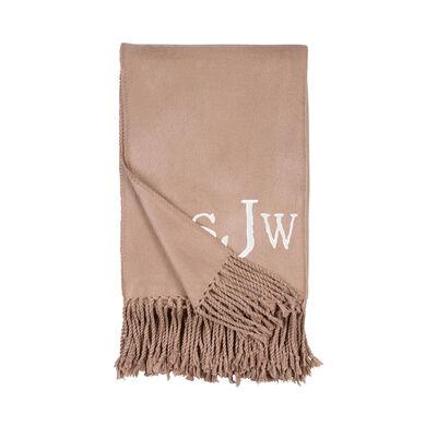Sand Fringe Throw Blanket, , default