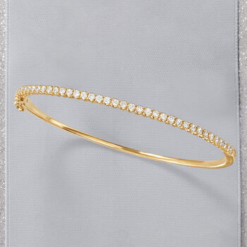 1.00 ct. t.w. Diamond Bangle Bracelet in 14kt Yellow Gold