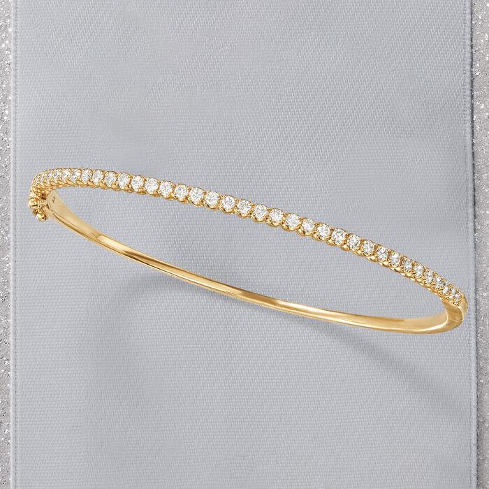 1.00 ct. t.w. Diamond Bangle Bracelet in 14kt Yellow Gold