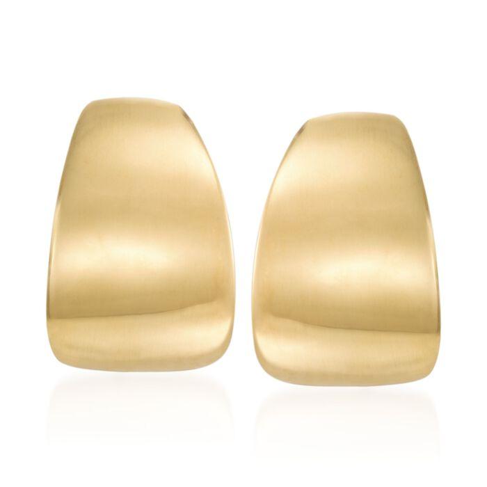 "Italian 14kt Yellow Gold Half-Hoop Earrings. 5/8"", , default"