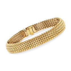 C. 1990 Vintage Tiffany Jewelry 18kt Yellow Gold Mesh Bracelet, , default