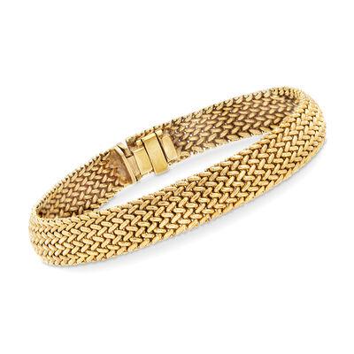 C. 1990 Vintage Tiffany Jewelry 18kt Yellow Gold Mesh Bracelet, , default