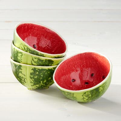 Bordallo Pinheiro Watermelon - Set of Four Bowls, , default