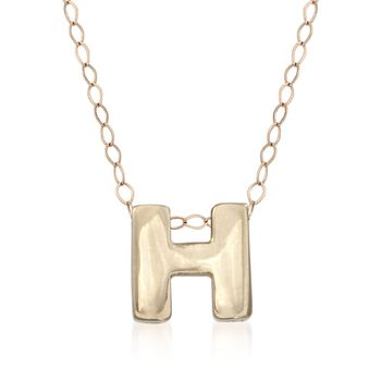 14kt Yellow Gold Mini Initial Necklace, , default