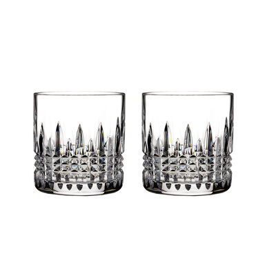 "Waterford Crystal ""Connoisseur"" Set of 2 Lismore Diamond Straight-Sided Tumbler Glasses"